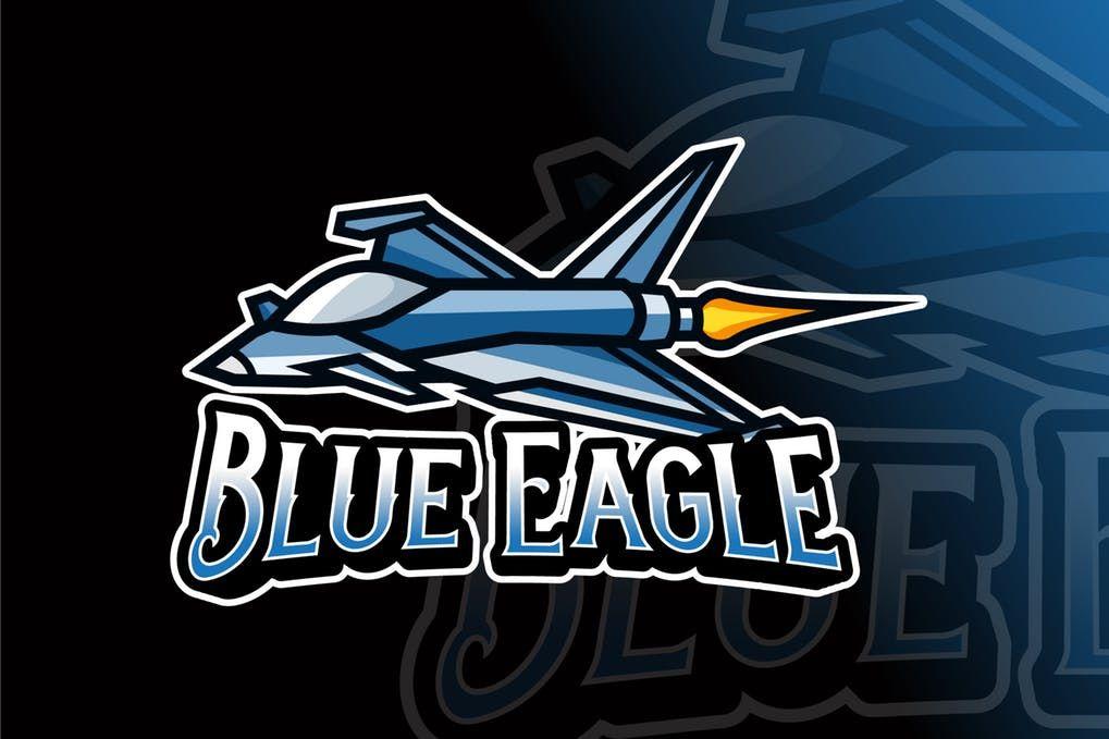 Thumbnail for Blue Eagle Logo Template Logo templates