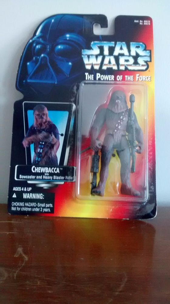 Star Wars Power of the Force Chewbacca Action Figure MOC red