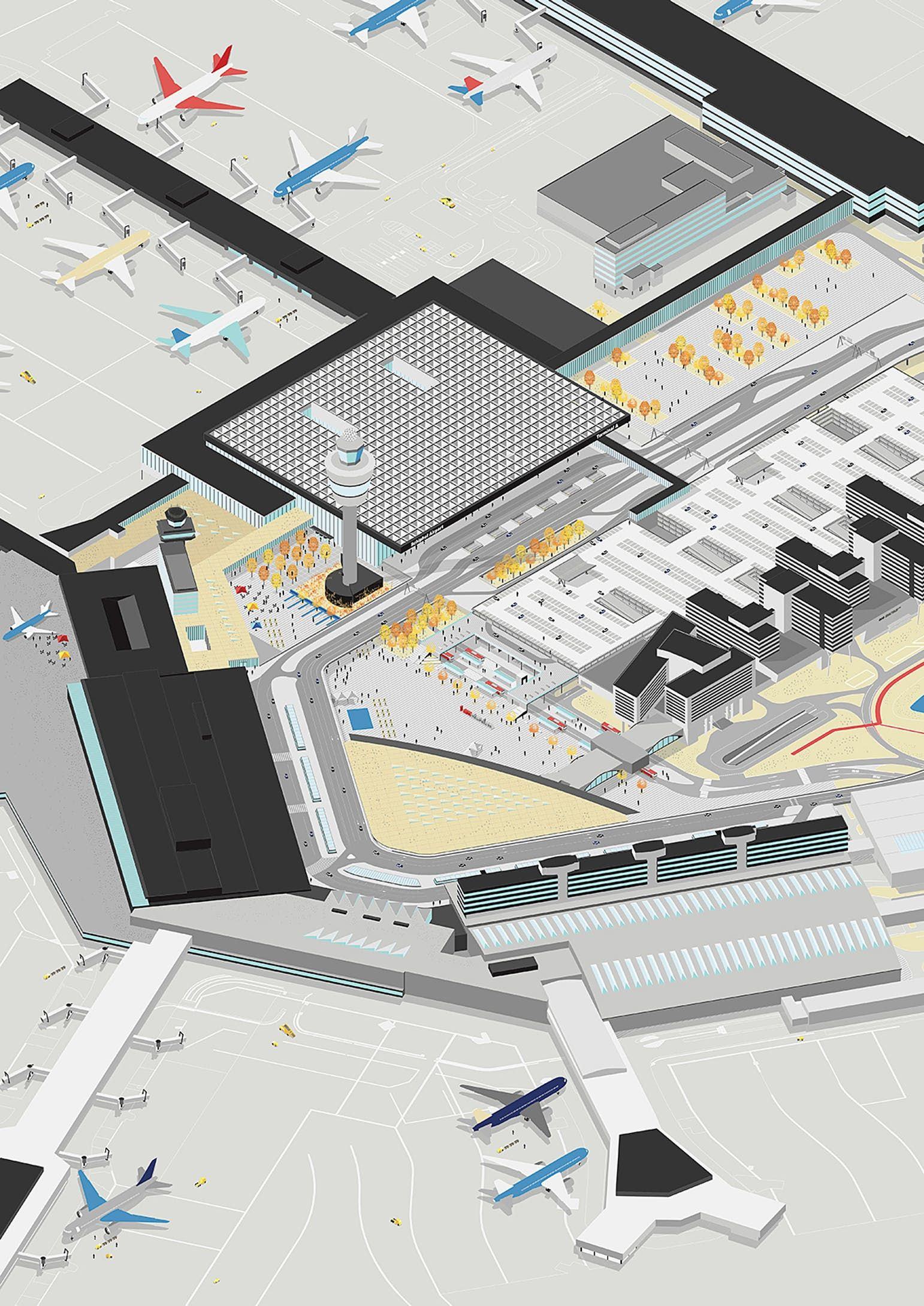 New Images Revealed Of The Winning Amsterdam Airport Schiphol
