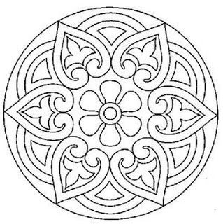 Mandala Cute Pattern For A Stencil Or Colouring In