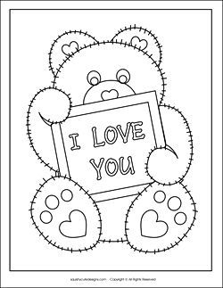 Valentine Coloring Pages & Activities  Printable Puzzles