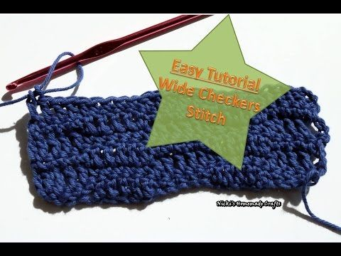 Easy Tutorial How To Do The Wide Checkers Stitch Youtube Craft