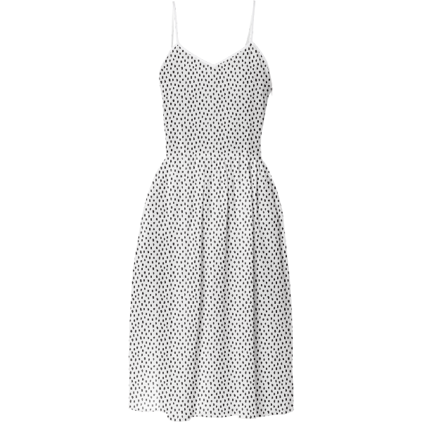 Party Dress in Irregular Dots