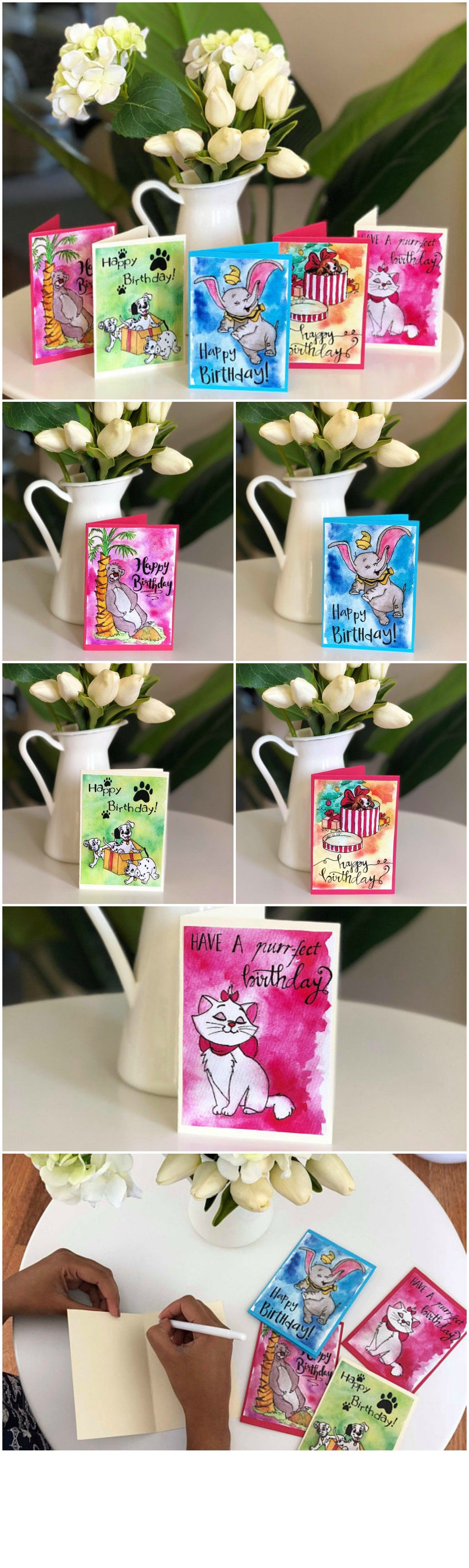 Mini disney birthday cards 5 pack of greeting cards these cards mini disney birthday cards 5 pack of greeting cards these cards have been printed from original watercolour paintings illustrated by me kristyandbryce Choice Image