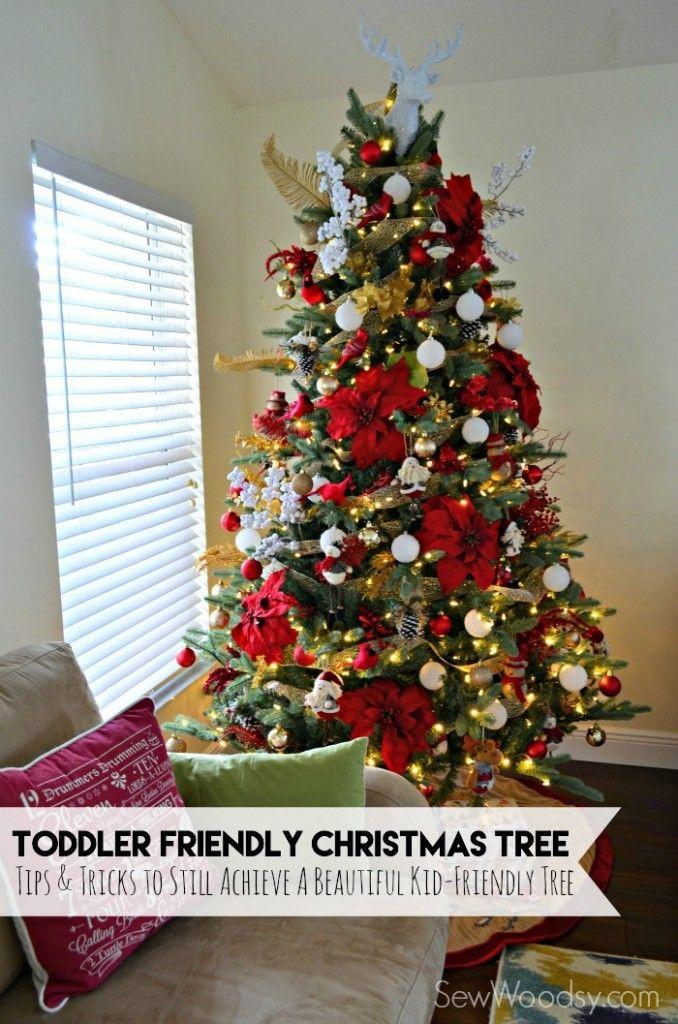 Toddler Friendly Christmas Tree Gold Christmas Tree Decorations Red And Gold Christmas Tree White Christmas Trees