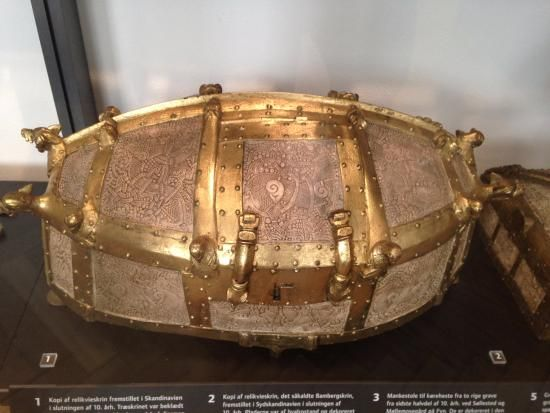 The Cammin Casket was made in southern Scandinavia around the year 1000 and decorated in the Mammen Style of Viking Art (c.960-1020) - The National Museum of Denmark, Copenhagen (replica).