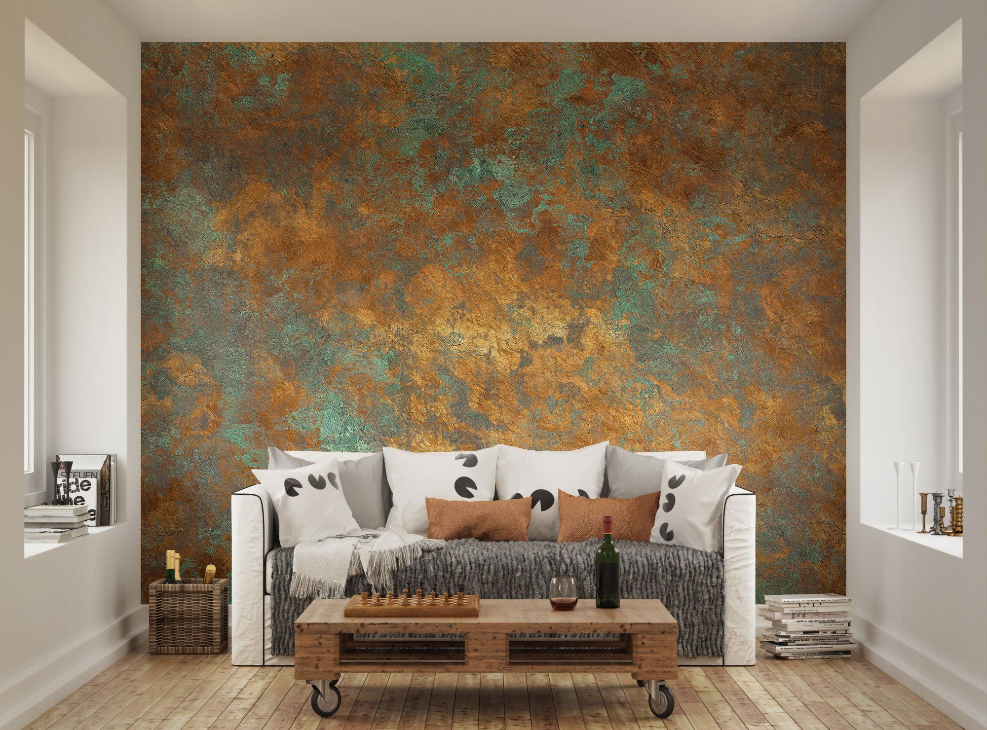 ohpopsi Vintage Aged Bronze Wall Mural: Amazon.co.uk: Kitchen