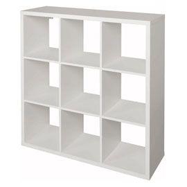 Etagere Modulable 9 Cases Coloris Blanc Mixxit Cube Rangement Meuble Rangement Rangement Modulable