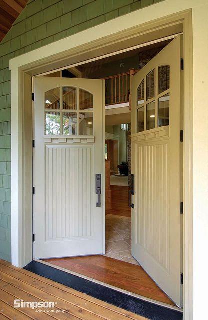 Exterior Doors Craftsman Style Wood Double Doors With Dentil From Simpson Door Company Bayer Built Woo Craftsman Front Doors French Front Doors House Doors
