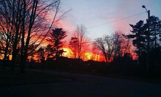 December sunset over Iron Mountain