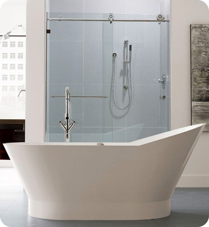 Neptune Wish freestanding uniquely shaped oval bathroom tub is a