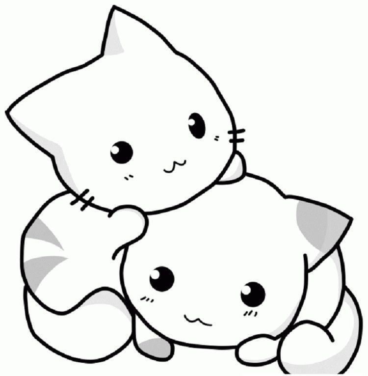 Anime Kawaii Cat Coloring Pages Materi Pelajaran 9