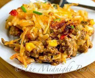 Cheesy hashbrown taco