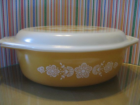 Vinage Pyrex Butterfly Gold 2 1/2 Quart by DianesStuffForYou, $22.00