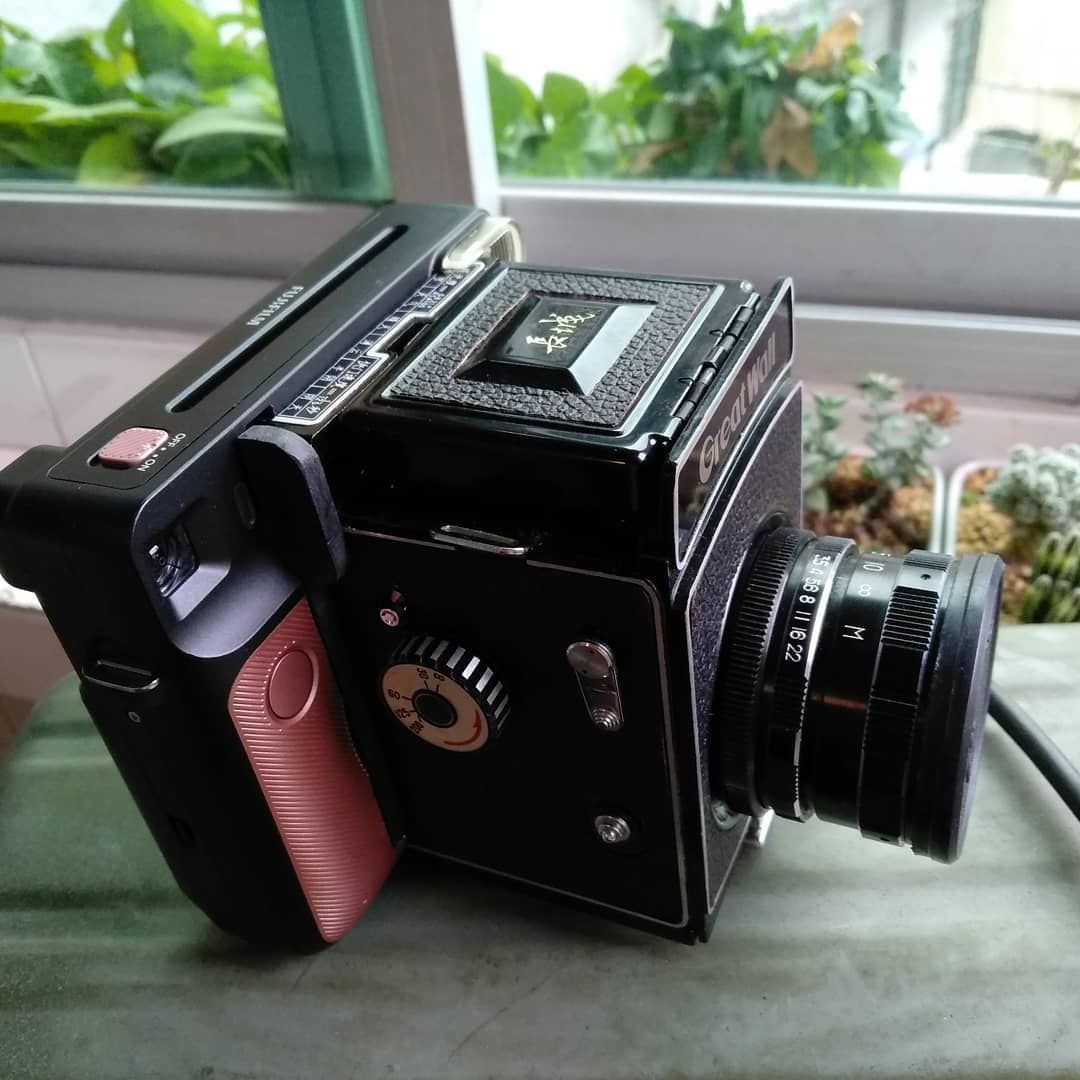 Great Wall DF camera with Instax Square SQ6 back by Joe Faye