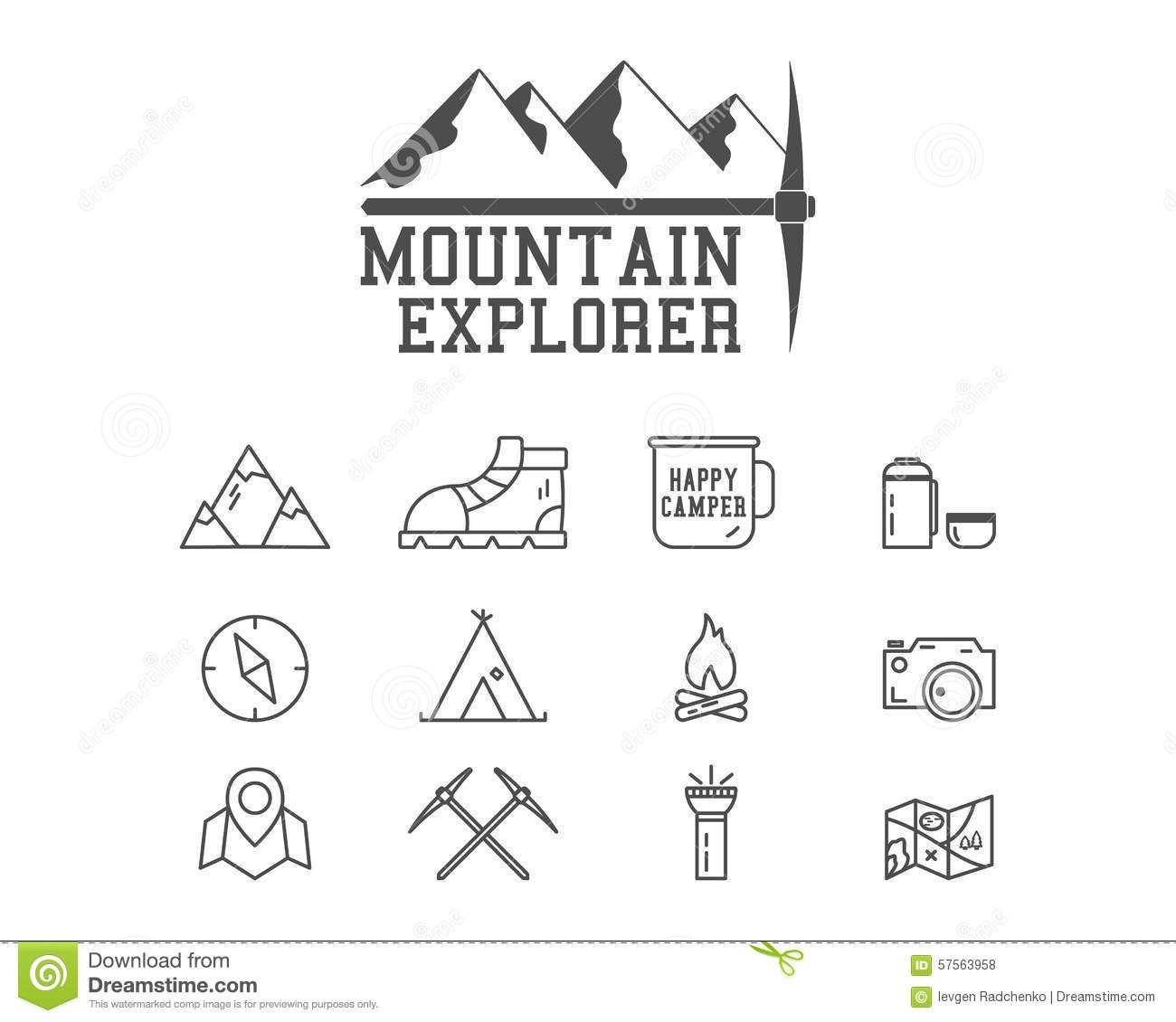 Camping Mountain Explorer Camp Badge, Logo - Download From Over 44 ...