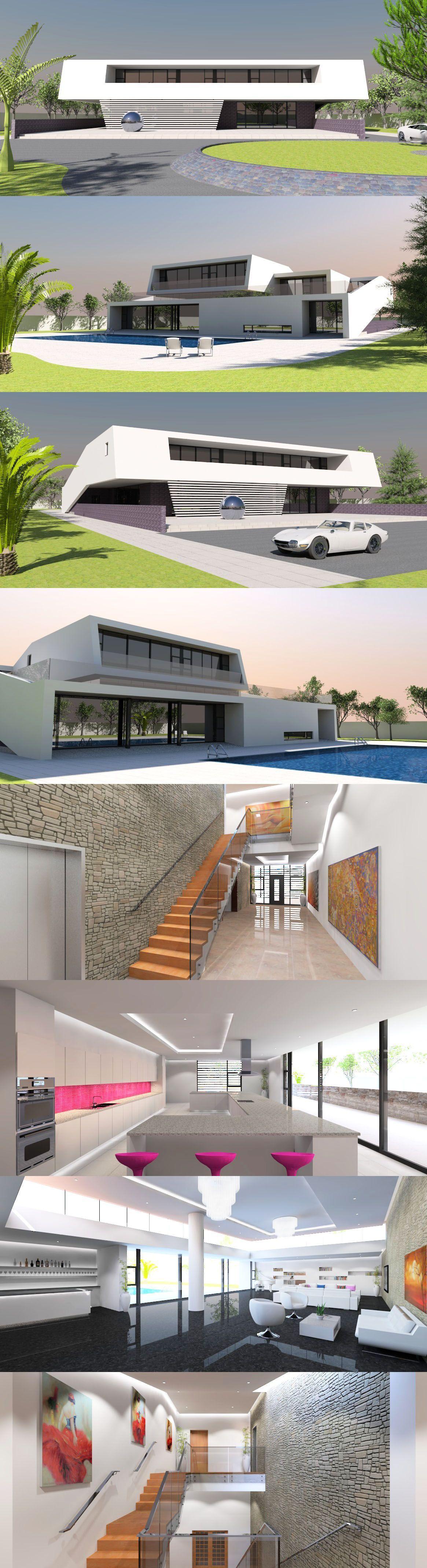 Photo of Atemberaubendes Luxushaus mit 6 Betten / Bädern im modernistischen Stil. Dieses Haus verfügt über eine …