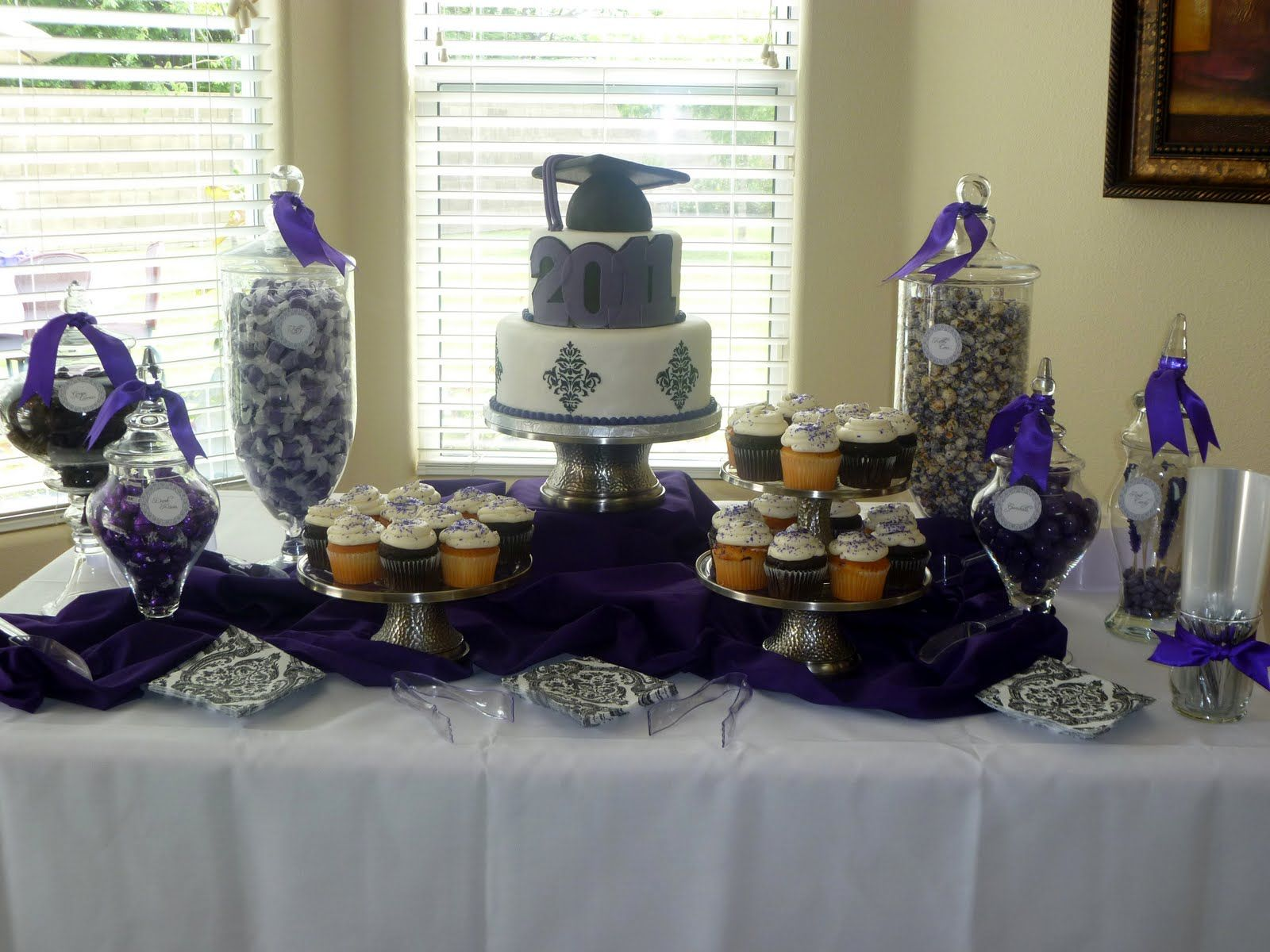 Graduation Candy Buffet Photos   Spoonful of Sugar Custom Candy Buffets:  The Color Purple!