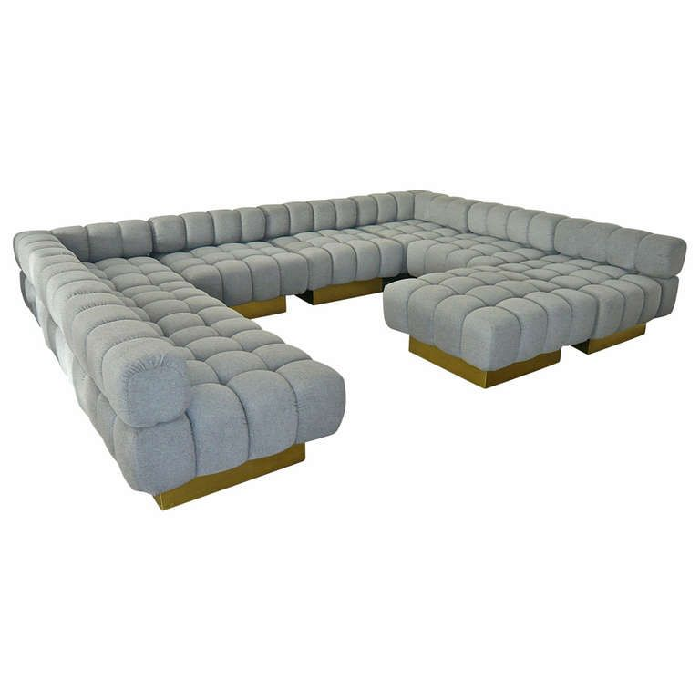 Deep Tuft Modular Sofa By Harvey Probber Modular Sofa