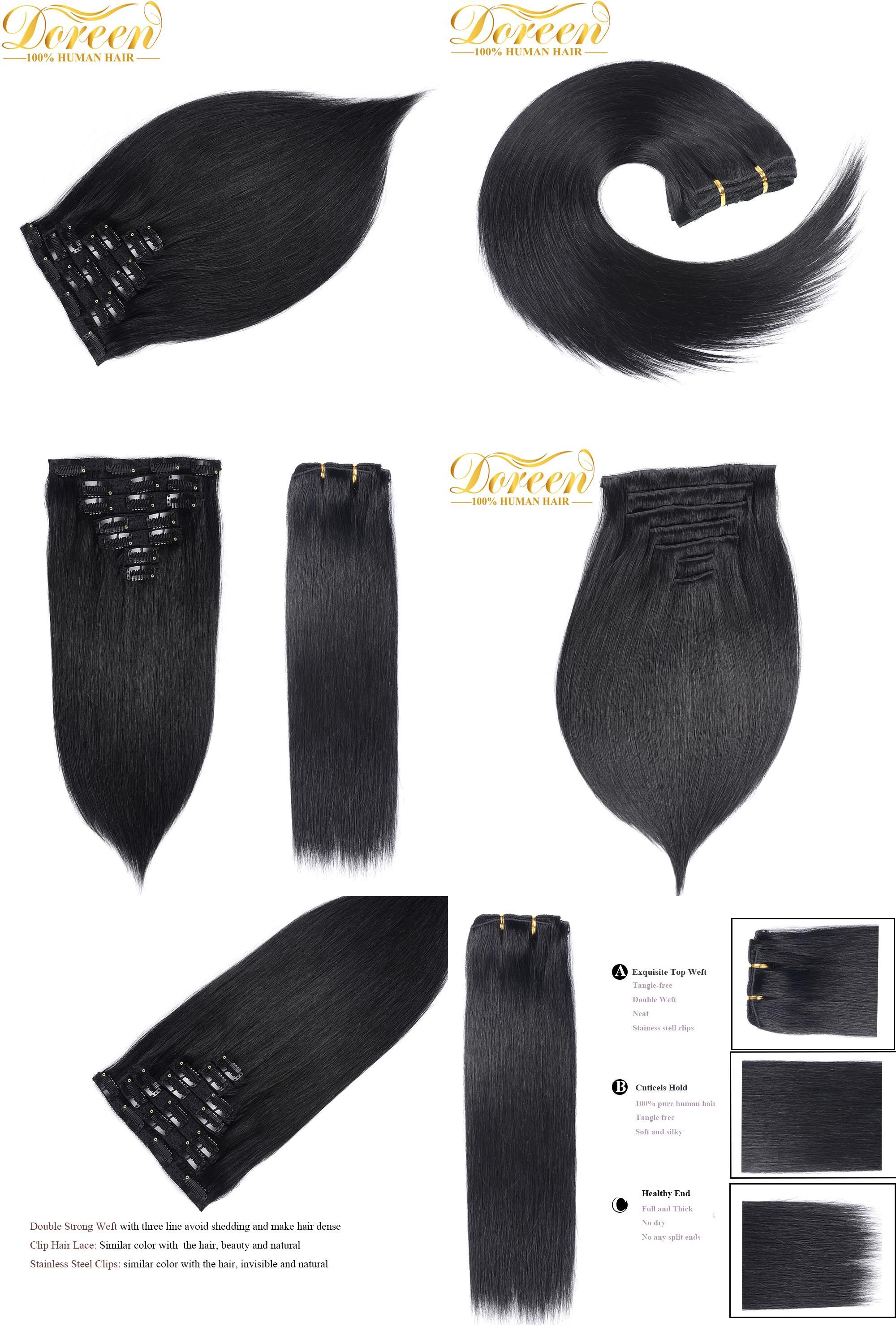 Visit To Buy Doreen 200g Full Head Set 10 Pcs Clip In Human Hair