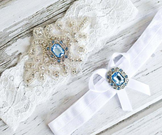Funny Wedding Garters: Wedding Garter Set Blue Garter Topaz Lace Garter Topaz