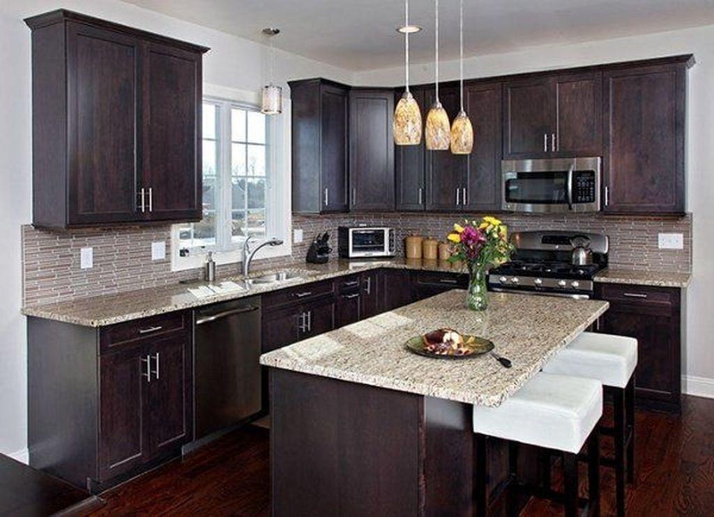 Elegant Kitchen Backsplash Decor Ideas With Dark Cabinets 41 Timeless Kitchen Walnut Kitchen Cabinets Modern Kitchen Design