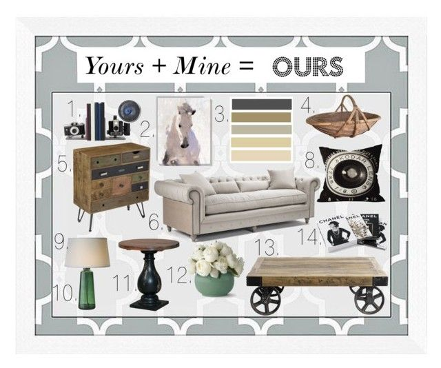 """Yours + Mine = OURS"" by thalassy ❤ liked on Polyvore featuring interior, interiors, interior design, home, home decor, interior decorating, Universal Lighting and Decor, Zentique, Dot & Bo and Christopher Knight Home"