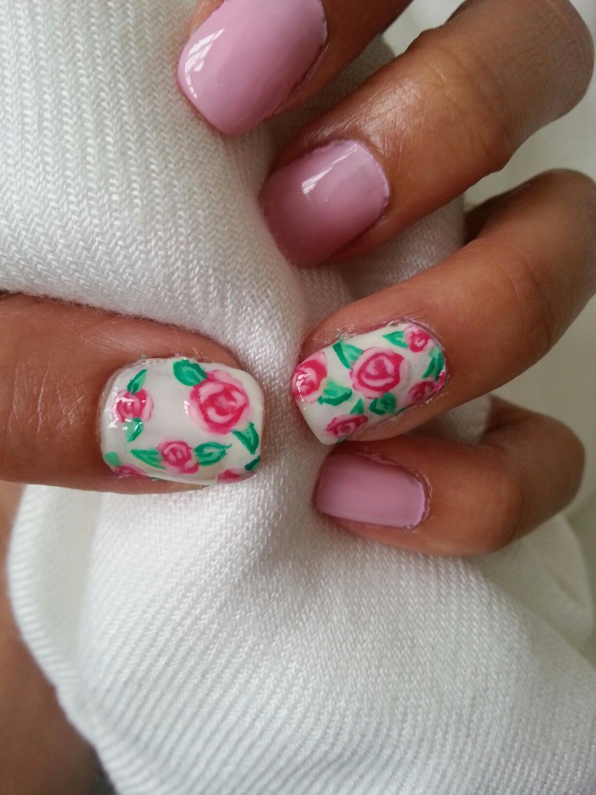Cute Pink Flower Nails Nail Art Pinterest Nails Flower Nails