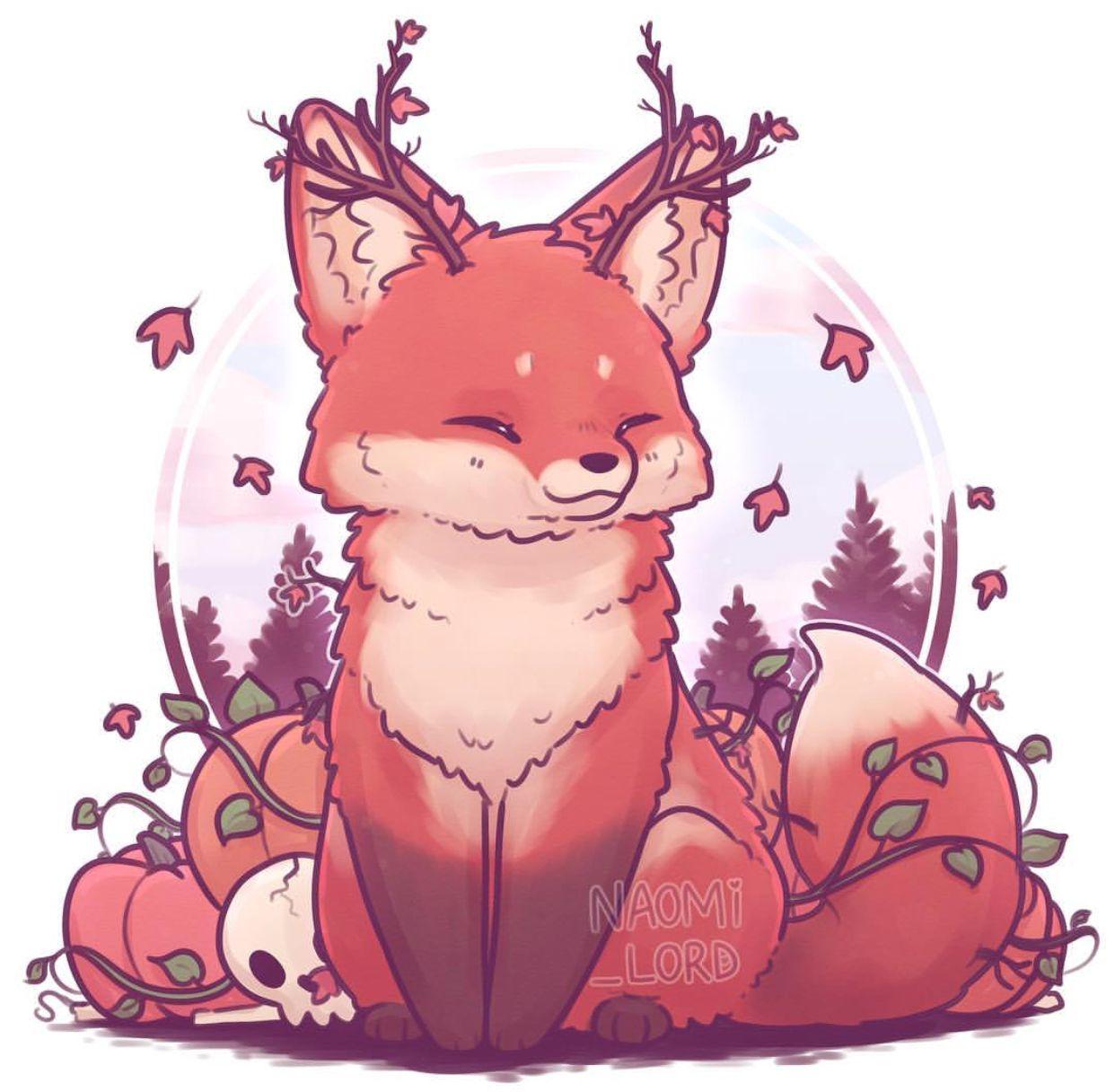 Autumn Fox Naomi Lord Cute kawaii drawings, Cute