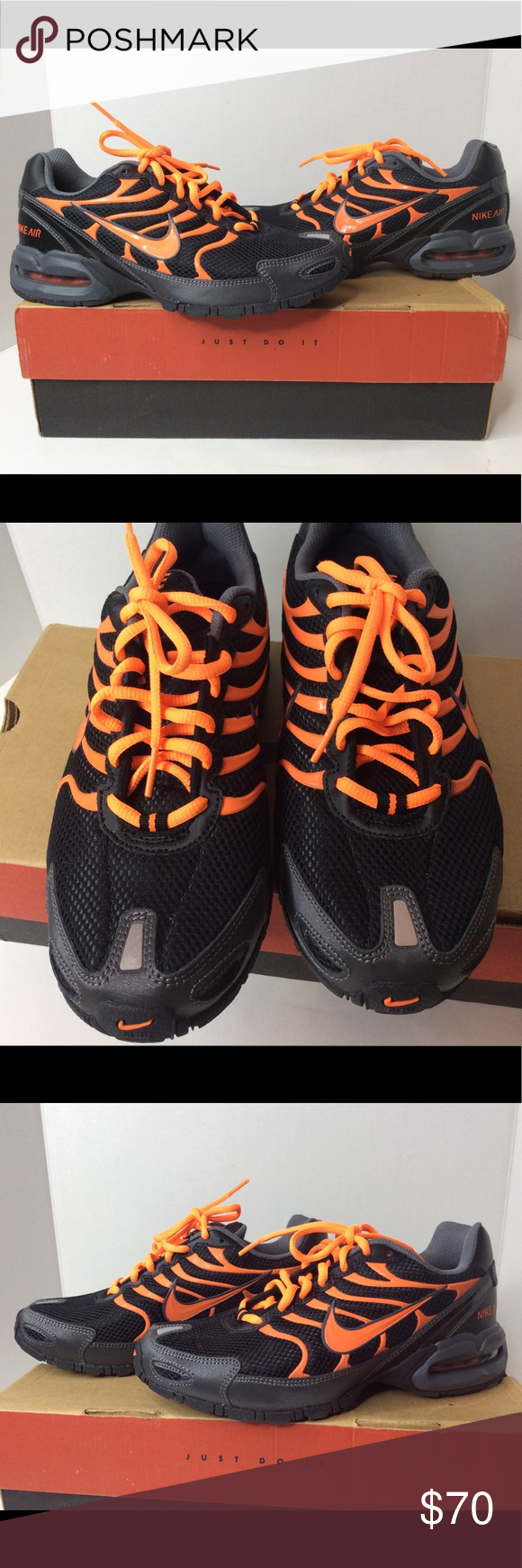 182804dabc8d NIKE Air Max Torch 4 Black Orange Sneakers 6.5Y Up for grabs is a preowned