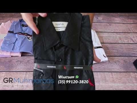 Kit 3 UN - Camisa Social Masculina - Marcas Variadas - Roupas no Atacado 17249df3ca