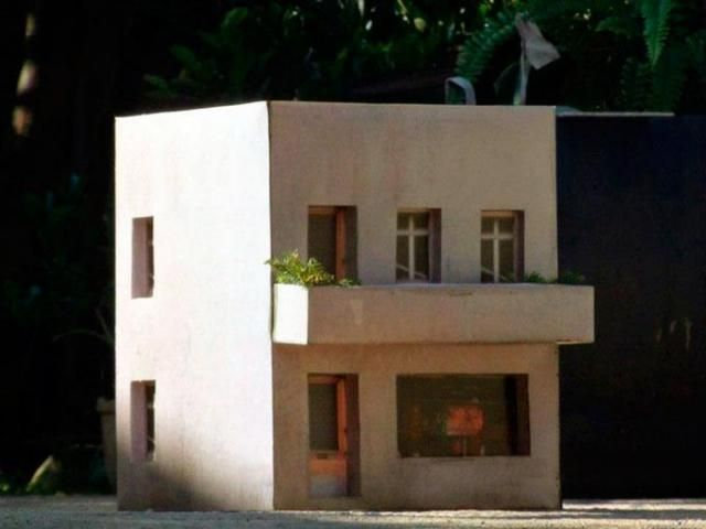 Middle Eastern Two Story Small House Paper Model