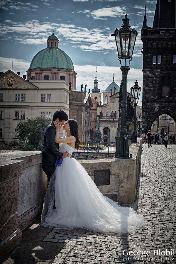 Prague pre wedding photographer George Hlobil Prague