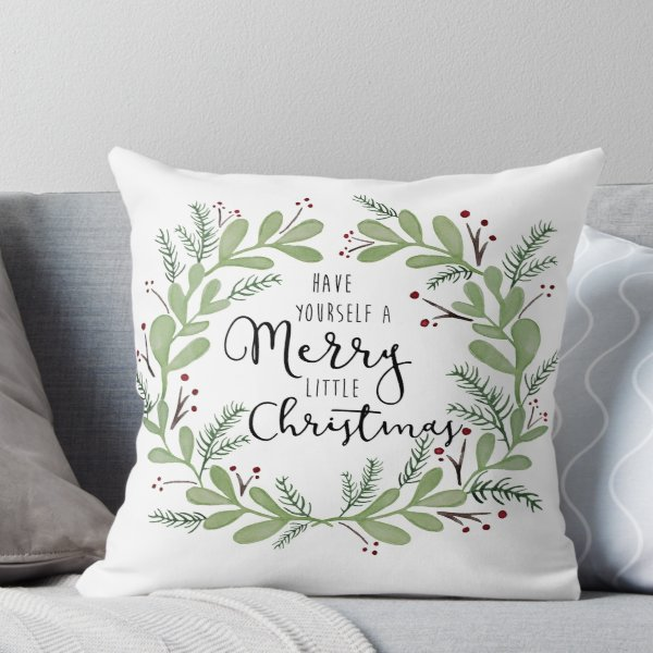 Have yourself a Merry little Christmas\' Throw Pillow by ...