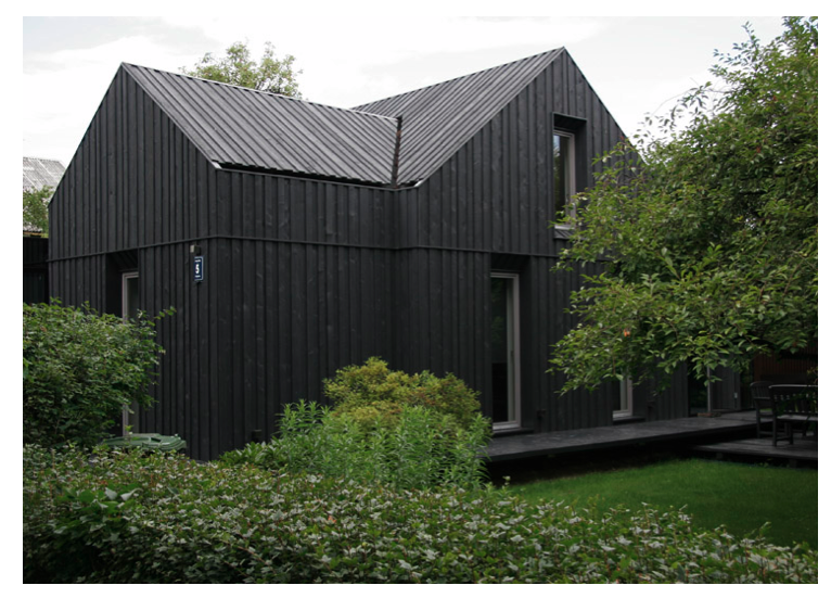 Greyblack exterior industrialrustic home in Latvia Very