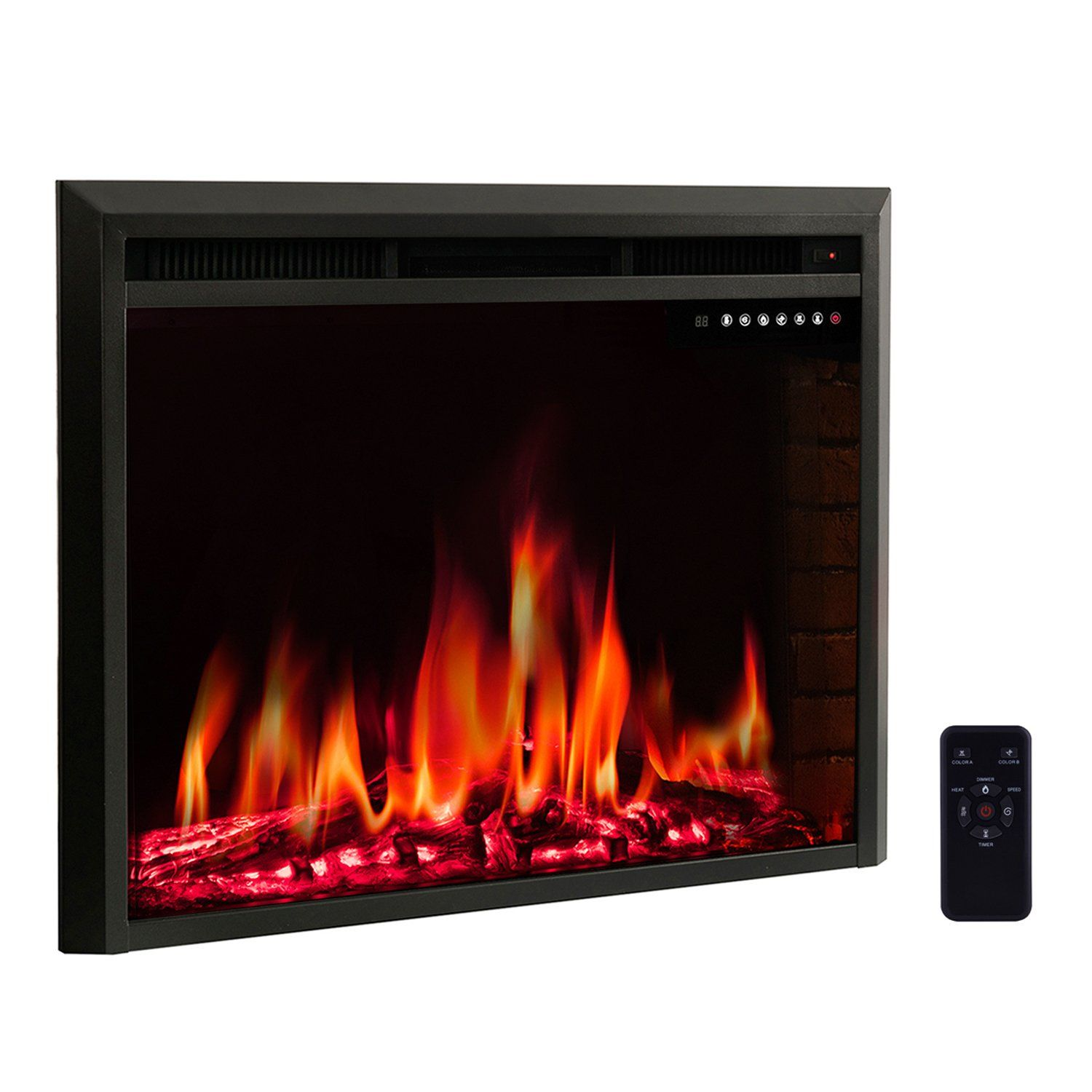 R W Flame 39 Electric Fireplace Insertfreestanding And Recessed Electric Stove Heaterto Electric Fireplace Insert Fireplace Inserts Recessed Electric Fireplace