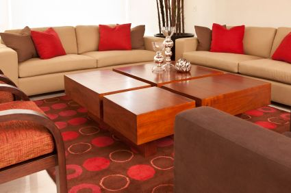 Find This Pin And More On Living Room. Brown And Red ...
