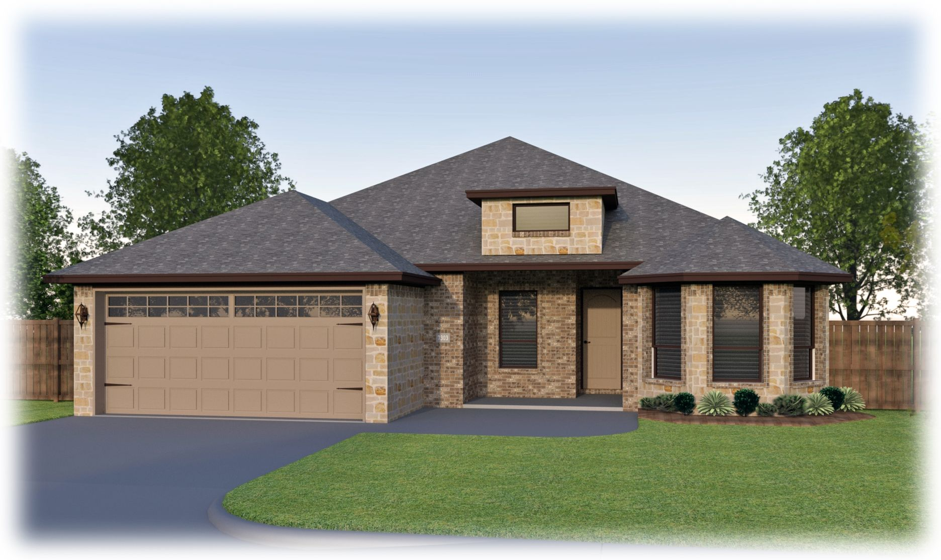 Erminia Stone Elevation A Uses Permian Color Brick Scheme D9 And South Texas Blend Acme Natural Stone Model Homes New Homes House Styles