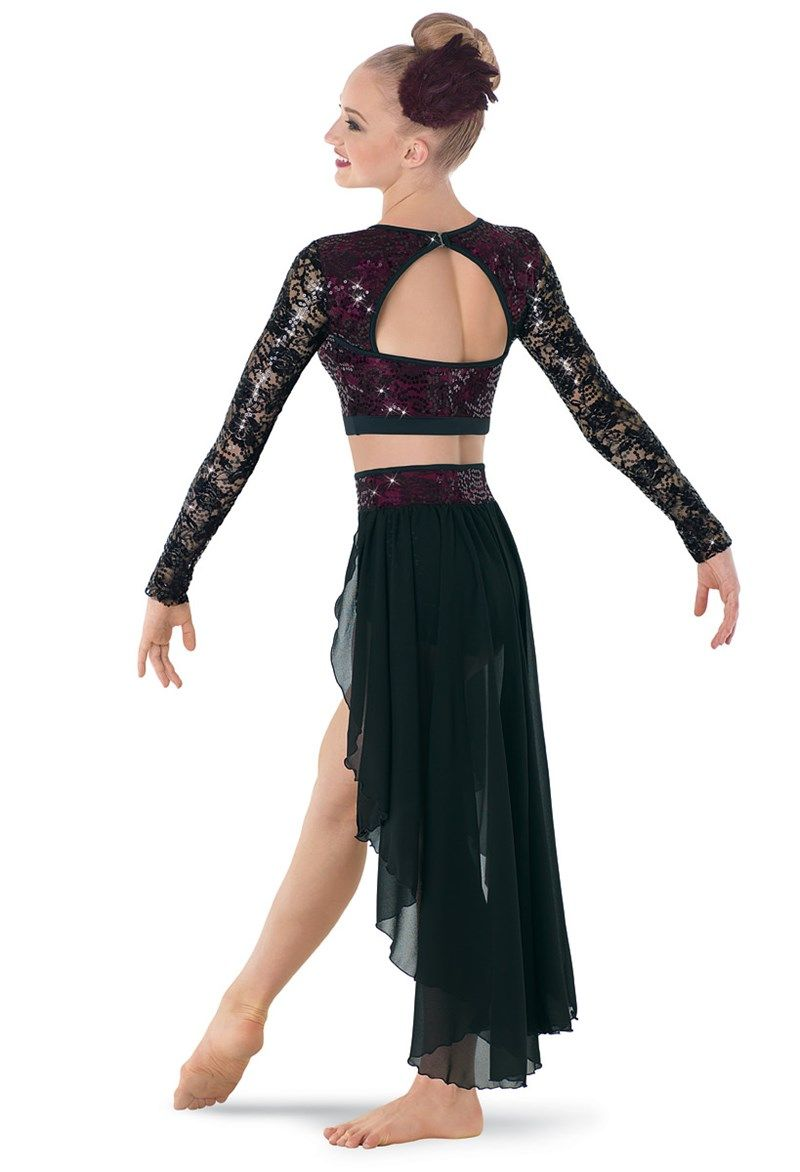 Details about  /Lyrical One Piece Dance Costume Child Large