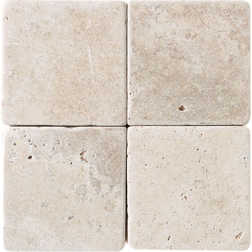 Check out this daltile product travertine collection baja for Tumbled marble bathroom designs