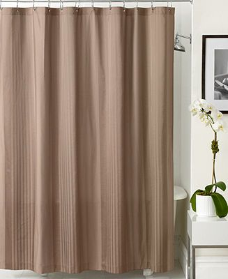 Hotel Collection Shower Curtain Classic Woven Stripe