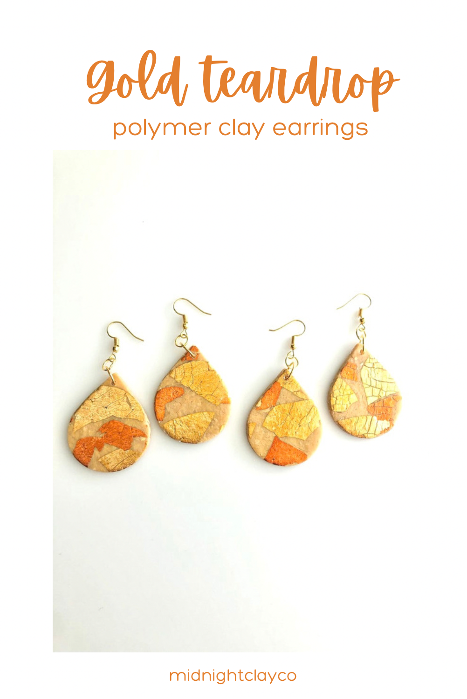 Handmade Clay Earrings Polymer Clay Jewelry The Soleil Earrings in Burnt Orange Moon Earrings Celestial Unique Earrings Sun Earrings