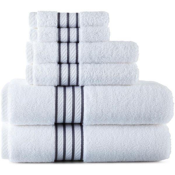 Royal Velvet Egyptian Cotton Striped Dobby Bath Towels 3 99