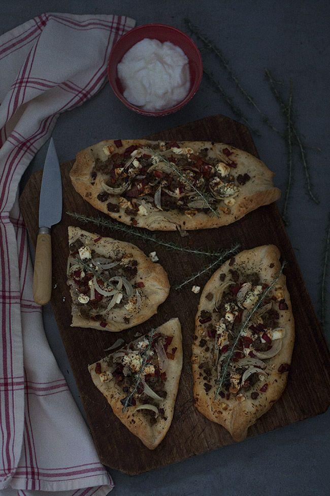 PIZZA TURCA DE CARN PICADA  RECEPTES  Carne picada