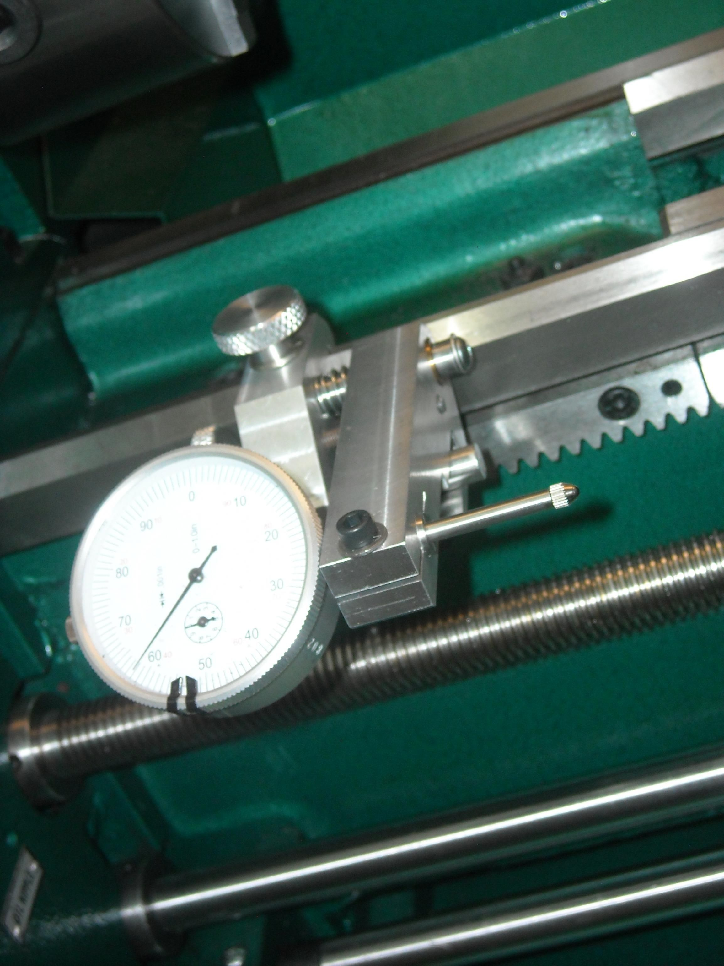 carriage position dial indicator mount for grizzly 4002 lathe
