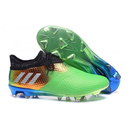 newest collection cee70 2272e Buy Adidas Messi 16 PureAgility FG Mens Football Boots Green Gold Blue Black