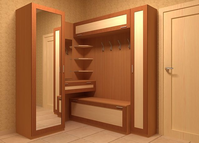 Мебель в маленькой прихожей дизайн 4