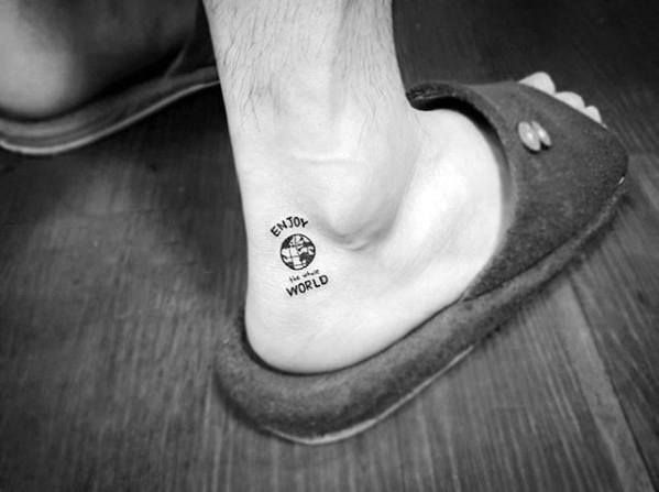 Top 73 Best Ankle Tattoo Ideas 2020 Inspiration Guide Ankle Tattoo Men Ankle Tattoo Tattoos For Guys