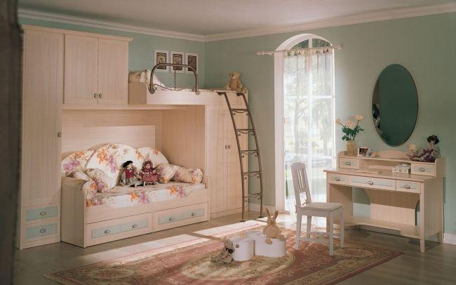 Vintage wohnideen  minze hellholz vintage wohnideen für kinderzimmer zwei betten ...