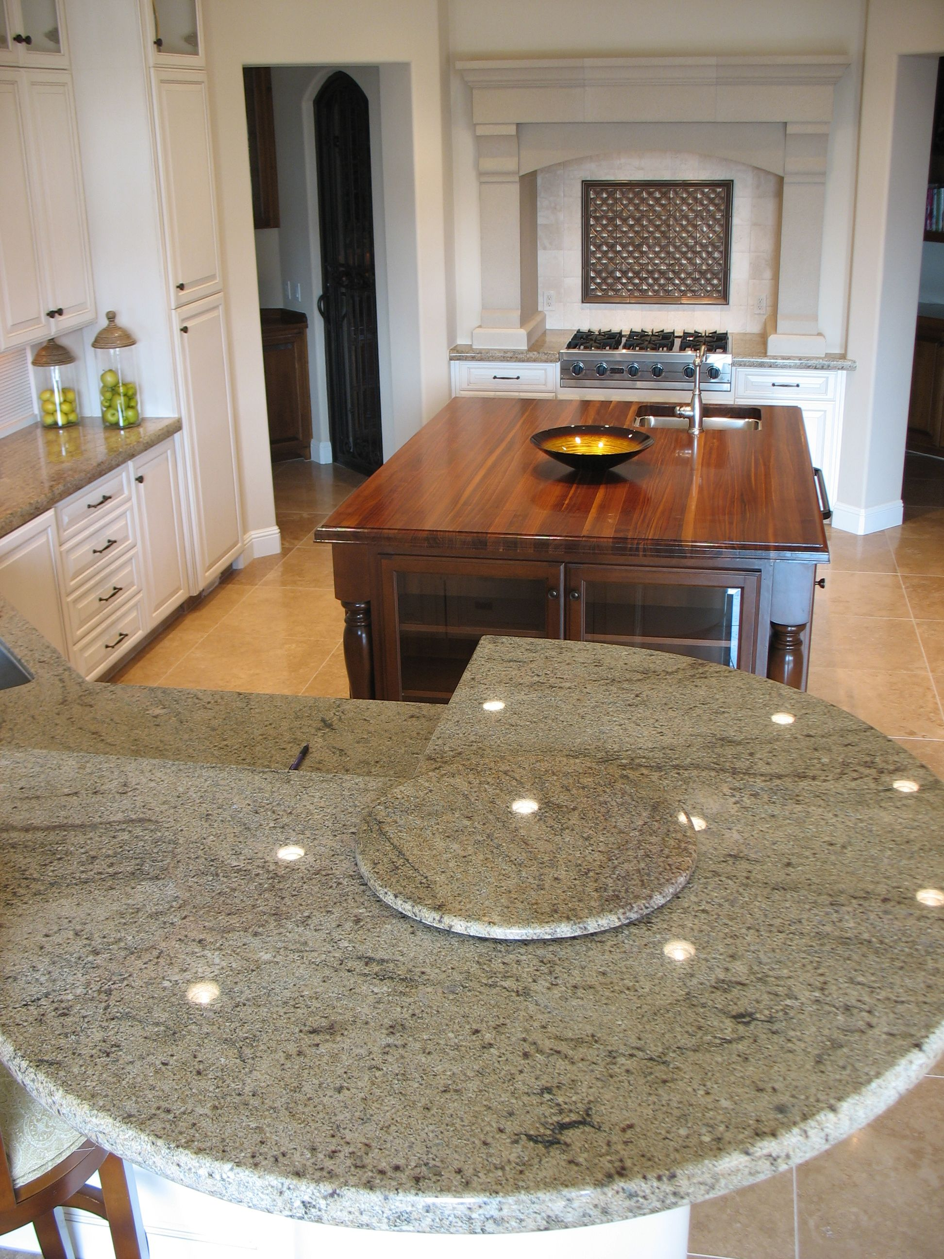 Gorgeous Granite Kitchen With Granite Lazy Susan Http Www